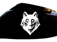 Wolf Werewolf Car Stickers Wing Mirror Styling Decals (Set of 2), White