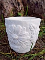 Latex daisy flower candle holder plaster concrete casting garden mold mould