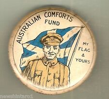 #D. TIN BADGE - AUSTRALIAN COMFORTS FUND, MY FLAG & YOURS