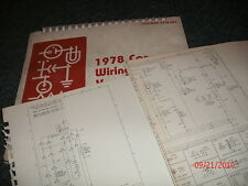 repair manuals literature for 1978 ford ranchero 1978 ford ii and ranchero factory wiring diagrams schematics sheets set