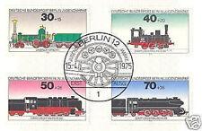 Berlin 1975: Lokomotiven! Jugendmarken Nr 488-491 mit Ersttagssonderstempel 1510