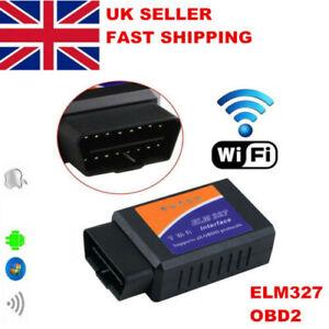 WIFI Car OBD2 OBDII IOS IPAD Auto Fault Code Reader Diagnostic Scanner ELM327 UK