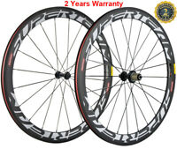 50mm Full Carbon Wheels Road Bike Clincher Bicycle 700C Wheelset 23mm Width Matt