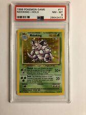 1999 Pokemon Unlimited Base Set  Nidoking Holo 11/102 PSA 8 NM-MT Nice