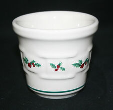 Longaberger Pottery Woven Traditions Christmas Holly Votive Cup - #34932 – Nib!