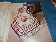 Afghans to Knit Crochet 15 Patterns mohair  Nautical Sailboat baby afghan Plaid
