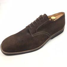 NORDSTROM Buck Men's Brown Suede Derby Lace Plain Cap Shoes 19 M NEW