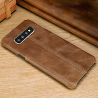For Samsung Galaxy S8 S9 S10E S10 Plus Note 8 9 Genuine Leather Back Case Cover