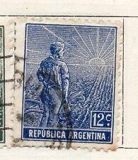 República Argentina 1912 antiguo problema fina con bisagras de menta 12c. 087415