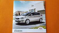 Kia Carens SR7 1 2 3 4 7 seat range paper brochure sales catalogue 2016 MINT