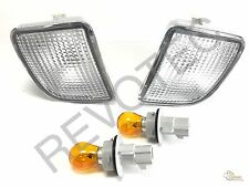 98 99 00 Toyota Tacoma 4WD Pre Runner Clear Front Signal Bumper Lights RH+ LH