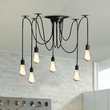 Edison Industrial Loft Spider Chandelier Pendant Ceiling Light Lamp 10 Head DIY