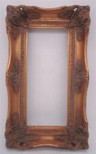Gilt Solid Wood Picture Frame - 30cm x 13cm Aperture - Overall Size 40cm x 23cm