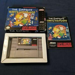 SNES Nintendo The Simpsons Barts Nightmare CIB complete!