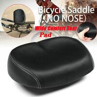 Bicycle Saddle Wide Seat Noseless Extra Soft Comfort Pad Big Bum Mountain Bike