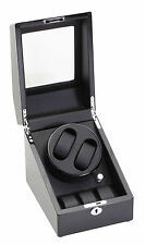 Diplomat Double 2 + 3 Watch Winder Black Finish w/ Storage Battery or A/C 31-424