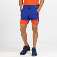 Regatta Mens Sungari Shorts Pants Trousers Bottoms Blue Orange Sports Outdoors