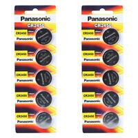 Panasonic CR2450 3V Lithium Battery 2PACK X (5PCS)= 10 Pcs Batteries