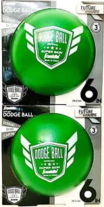 2 Count Franklin Future Champs Green Super Skin 6 Inch Dodge Ball Age 3 & Up