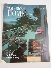 The American Home Magazine- June 1954-color photos-MCM design decor funiture