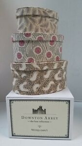 Downton Abbey Set Of 3 Fabric Nested Ovals Nesting Dresser Boxes in Original Box