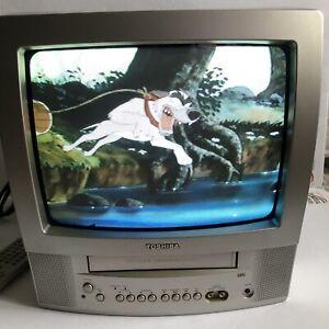 """Rare Find w/ Remote-Toshiba VCR VHS Player/13""""TV Retro Gaming Combo MV13P3"""