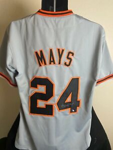 Willie Mays autographed signed New York Giants Jersey Mays Hologram