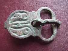 Authentic Ancient Lake Ladoga VIKING Artifact > Bronze COMPLETE BUCKLE F10