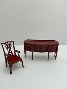 Marx Doll House Sideboard And Chair  See Pics For Size