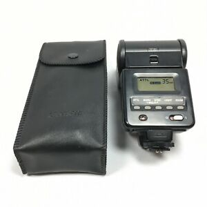 VGC Canon 420 EZ Speedlite Flash + Case TESTED WORKING