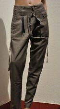 NEW * HIGH USE Claire Campbell pantaloni marrone nocciola distressed pants 42 IT