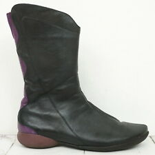THINK ! 💠 Damen Stiefel Gr. 37,5 Leder Schwarz Boots Woman Schuhe
