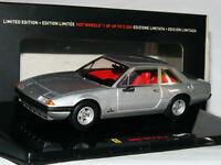 Hot Wheels Elite 1973 Ferrari 365 GT4 2+2 Metallic Silver LTD ED 1/43