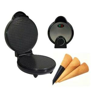 Round Nonstick Electric Stroopwafel Syrup Waffle Maker Baker Machine Stainless