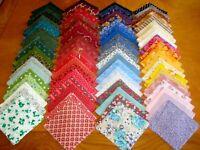 Lot MTZXT 80 squares 4 x 4 assorted quilter fabric cotton bundle stash builder