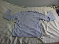 U.S. POLO ASSN. MEN'S LIGHT BLUE V NECK SWEATER SIZE XL