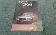 1980 PEUGEOT 304 ESTATE UK BROCHURE GL SL