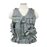 NCStar Paintball Airsoft Tactical PALS MOLLE Vest Harness - MED-2XL Digi Camo