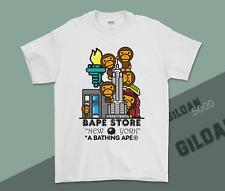 New T-Shirt A Bathing Ape Bape Store New York Tee Cotton USA Regular Size S-3XL