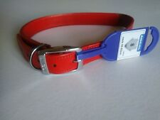 Ancol Heritage real quality leather Studded Dog Collar 51-60 cm size 8 red