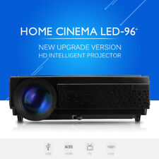 EXCELVAN 96 Portable 7000 Lumens 3D 1080P HD LED Projector Home Cinema HDMI USB