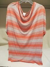 Ella Moss Women's Red and Grey Rayon Blouse in Size M