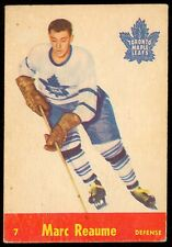 1955-56 PARKHURST HOCKEY QUAKER OATS #7 MARC REAUME VG-EX TORONTO MAPLE LEAFS