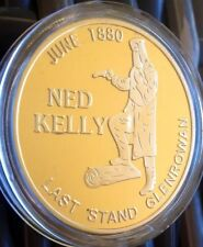 NED KELLY Coin Finished In 24k 999 Gold 1oz Such Is Life Australia 1oz Medallion