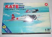 Nakajima Kate B5N Type 97 1/72 Scale Model Kit Hasegawa Vintage 1976