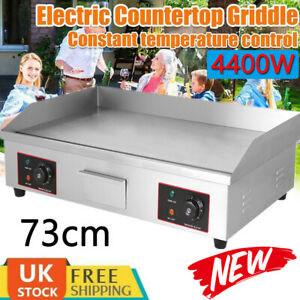 Electric Griddle Hotplate Flat Chip Grill Bacon Egg Fryer Commercial 4400W UK