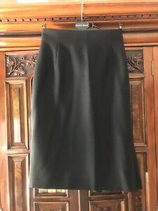 Austin Reed Size 10 Black Wool Mix Pencil Skirt