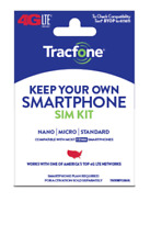 Tracfone Keep Your Own Phone Sim Kit- w/ $15/30 day Prepaid plan 500min/text/mb