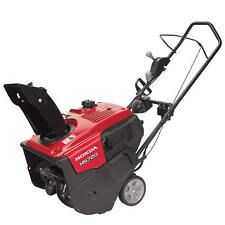 "Honda (20"") 187cc 4-Cycle Single Stage Snow Blower w/ Electric Start & Dual C..."