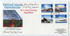 FALKLAND IS 1984  New Zealand South Georgia Expedition FDC signed Alan Knowles
